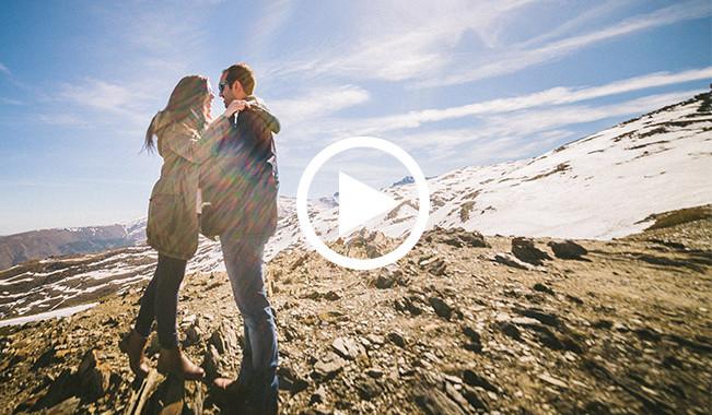 Vídeo de preboda en Sierra Nevada |  Israel + Virginia